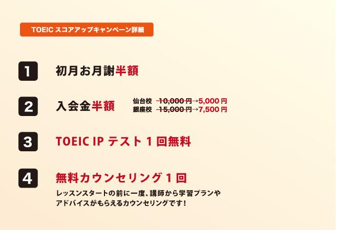 TOEICスコアアップ!応援キャンペーン